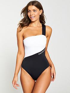 calvin-klein-one-shoulder-one-piece-swimsuit-blackwhite