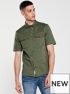 river-island-short-sleeve-military-shirt