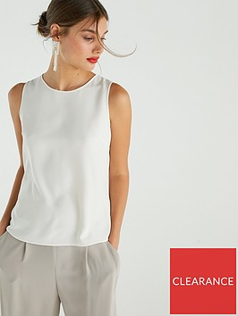 warehouse-round-neck-shell-top-ivory