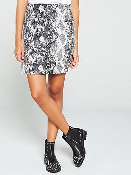 warehouse-jacquard-snake-pelmet-skirt-grey