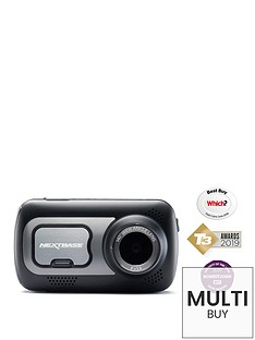 Nextbase 522GW - Series 2 Car Dash Camera - Full 1440p/30fps HD DVR Cam - Front and Rear Recording Modules - 140° Wide Viewing Angle - Wi-Fi & Bluetooth - Alexa - GPS -Polarising Filter - Black Best Price and Cheapest