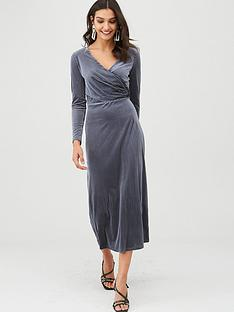v-by-very-velvet-stripe-midi-dress-midnight-blue
