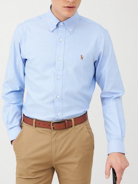 polo-ralph-lauren-golf-long-sleeve-non-iron-oxford-shirt-blue