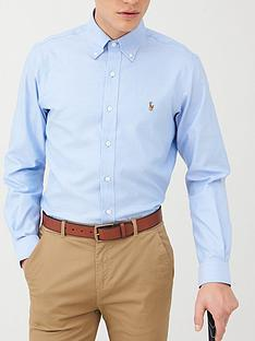 polo-ralph-lauren-golf-long-sleeve-non-iron-oxford-shirt-blue