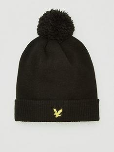 lyle-scott-golf-sports-bobble-beanie-black