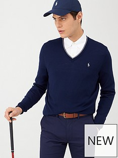polo-ralph-lauren-golf-v-neck-contrast-trim-knitted-jumper-navy