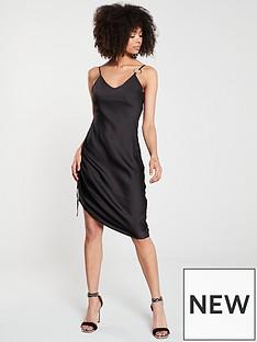 5ccbc77d0714 River Island River Island Ruched Side Slip Dress - Black
