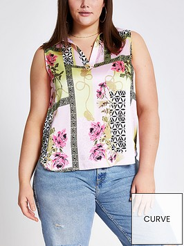 ri-plus-ri-plus-scarf-print-sleeveless-shirt-pink