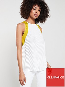 river-island-river-island-pleated-colour-block-top--white-lime