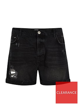 ri-plus-boyfriend-denim-short--black