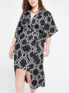 ri-plus-chain-print-kimono-dress