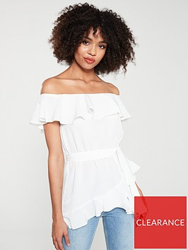 river-island-river-island-button-through-bardot-top-white