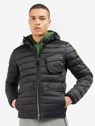 Details about  /Mens Quilted Hooded Jacket By S Star Padded Bubble Puffer Puffa Warm Bomber Coat