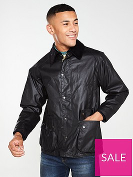 barbour-bedale-wax-jacket-black