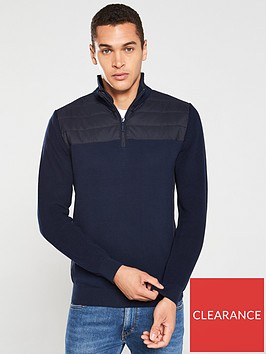 barbour-lundy-half-zip-sweater-navy