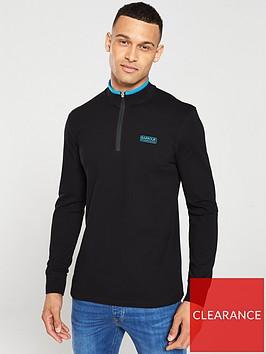 barbour-international-bleaser-half-zip-sweater-black