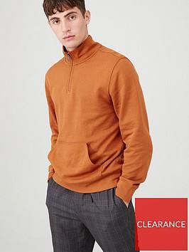 v-by-very-quarter-zip-funnel-neck-jumper-orange