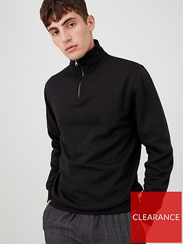 v-by-very-quarter-zip-funnel-neck-jumper-black