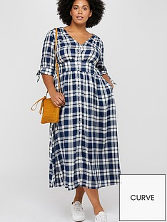 monsoon-curve-dolly-check-dress