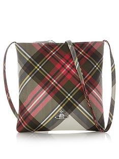 vivienne-westwood-derby-tartan-square-cross-body-bag-red