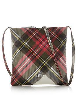 vivienne-westwood-derby-tartan-square-cross-body-bag-red