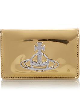 vivienne-westwood-johanna-metallic-flap-card-holder-gold