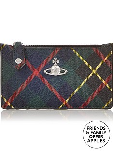 vivienne-westwood-derby-tartan-slim-long-card-holder-green