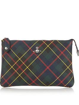 vivienne-westwood-derby-tartan-top-zip-pouch-bag-green