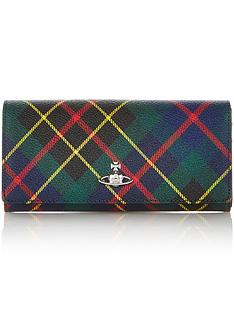 vivienne-westwood-derby-tartan-classic-credit-card-purse-green