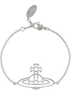 vivienne-westwood-thin-lines-flat-orb-bracelet-silver