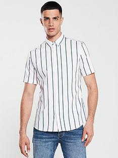 river-island-short-sleeve-pink-green-stripe-shirt