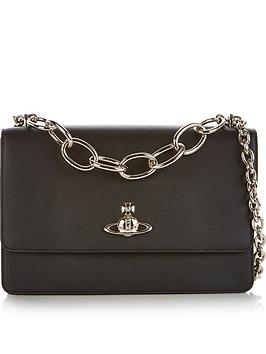 vivienne-westwood-florence-flap-over-chain-detail-cross-body-bag-black