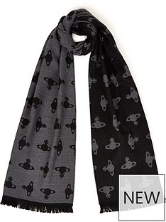 vivienne-westwood-all-over-orb-scarf-grey