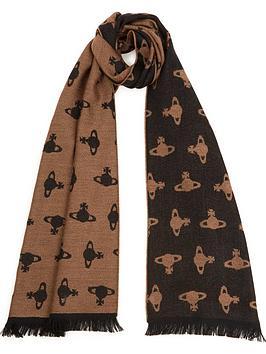 vivienne-westwood-all-over-orb-scarf-camel
