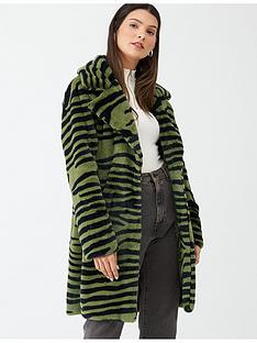 v-by-very-zebra-print-faux-fur-coat-olive