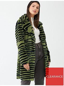 v-by-very-zebra-print-faux-fur-coat-olive