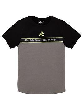 kings-will-dream-boys-destin-short-sleeve-t-shirt-greyblack