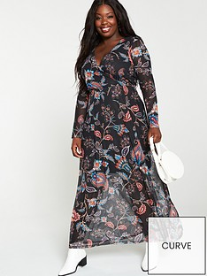 v-by-very-curve-mesh-maxi-dress-paisley-print