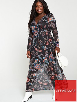 v-by-very-curve-mesh-maxi-dress-paisley-print
