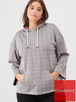 v-by-very-curve-checked-hoodie-multi