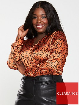 v-by-very-curve-animal-spot-print-blouse-rust