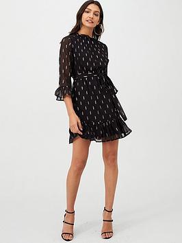 v-by-very-metallic-thread-dobby-tunic-dress-black