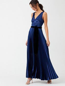 v-by-very-satin-pleated-maxi-dress-navy