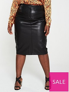 v-by-very-curve-croc-pu-pencil-skirt-black