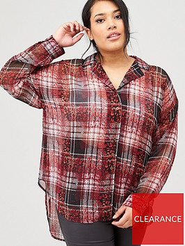 v-by-very-curve-animal-check-longline-shirt-multi