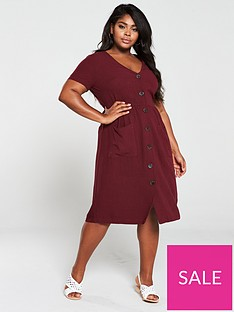 oasis-curve-eco-linen-midi-dress-berry