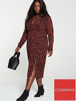v-by-very-curve-red-animal-print-wrap-dress-multi