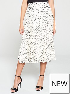 7a646a039 Oasis Spot Print Pleated Skirt - Monochrome