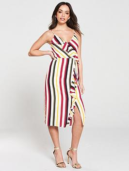 oasis-bali-stripe-frill-midi-dress-naturalnbsp