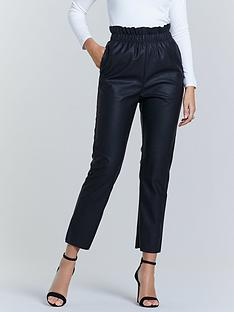 michelle-keegan-elasticated-waist-pu-trouser-black